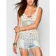 DOLLED UP Crochet Fringe Womens Tank