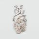 FULL TILT Rhinestone Leaf Ring