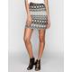 LILY WHITE Ethinc Print Bodycon Skirt