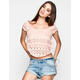 FULL TILT Floral Lace Womens Swing Crop Top