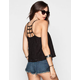FULL TILT Lace Overlay Womens Cage Back Swing Tank