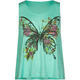 FULL TILT Butterfly Floral Girls Swing Tank