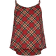FULL TILT Plaid Girls Chiffon Tank