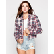 MIMI CHICA Plaid Womens Crop Shirt