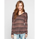 FULL TILT Striped Womens Drop Shoulder Top