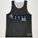 CIVIL Boxed Mesh Mens Reversible Jersey Tank