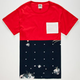 CIVIL Floral Star Mens Pocket Tee