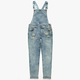 HIGHWAY Girls Destructed Denim Overalls