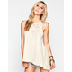 OTHERS FOLLOW Crochet Trim Womens Tunic