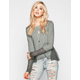 OTHERS FOLLOW Sweater Inset Womens Top
