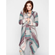 FULL TILT Stripe Womens Hooded Wrap