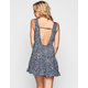 MINE Ditsy Print Open Back Dress