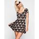 FULL TILT Ditsy Floral Print Skater Dress