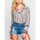 BILLABONG I Heart This Womens Peasant Top