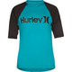 HURLEY One & Only Boys Neon Rash Guard