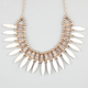 FULL TILT Marble Spike Rhinestone Statement Necklace