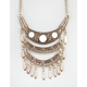 FULL TILT 3 Row Crescent Bib Necklace