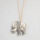 FULL TILT Etched Rhinestone Elephant Necklace