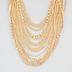FULL TILT Chain/Rhinestone Drape Necklace