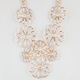 FULL TILT Open Flower Statement Necklace