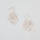 FULL TILT White Washed Shower Dangle Earrings