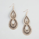 FULL TILT Jet Bead Ethnic Tear Drop Earrings
