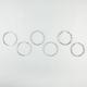 FULL TILT 3 Pairs Diamond Dust/Stone/Wrap Hoop Earrings