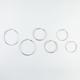 FULL TILT 3 Pairs Etched/Rhinestone/Link Hoop Earrings