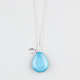 FULL TILT Bird Charm Turquoise Pendant Necklace