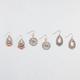 FULL TILT 3 Pairs Filigree/Medallion Drop Earrings