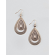 FULL TILT Etched Teardrop Earrings