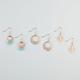 FULL TILT 3 Pairs Medallion Disc Earrings