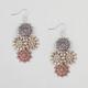 FULL TILT Flower Medallion Dangle Earrings