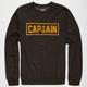 CAPTAIN FIN Naval Pin Mens Sweatshirt