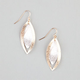 FULL TILT Diamond Dust Leaf Dangle Earrings