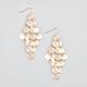 FULL TILT Diamond Dust Disc Shower Earrings