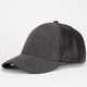 Faux Leather/Wool Womens Snapback Hat