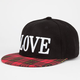 Love Plaid Bill Womens Snapback Hat