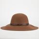 Studded Band Felt Floppy Hat
