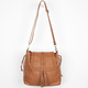Braid Trim Faux Leather Flap Over Bag