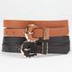 2 Piece Western Buckle Skinny Belts