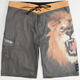 BILLABONG White Mike Wild Mens Boardshorts