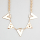 FULL TILT Geo Triangle Epoxy Statement Necklace