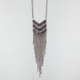 FULL TILT 3 Row Chevron Fringe Necklace
