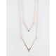FULL TILT 2 Row V-Bar Necklace