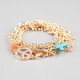 FULL TILT 5 Piece Cross/Triangle/Peace Chain Bracelets