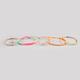 FULL TILT 5 Piece Neon Cord/Beaded Bracelets