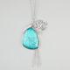 FULL TILT Turquoise/Elephant Charm Necklace