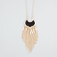 FULL TILT Fringe Epoxy Medallion Necklace
