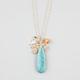 FULL TILT Turquoise/Hamsa Charm Necklace
